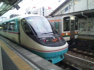 小田急20000<br>  形RSEラストラン(2012/03/16)